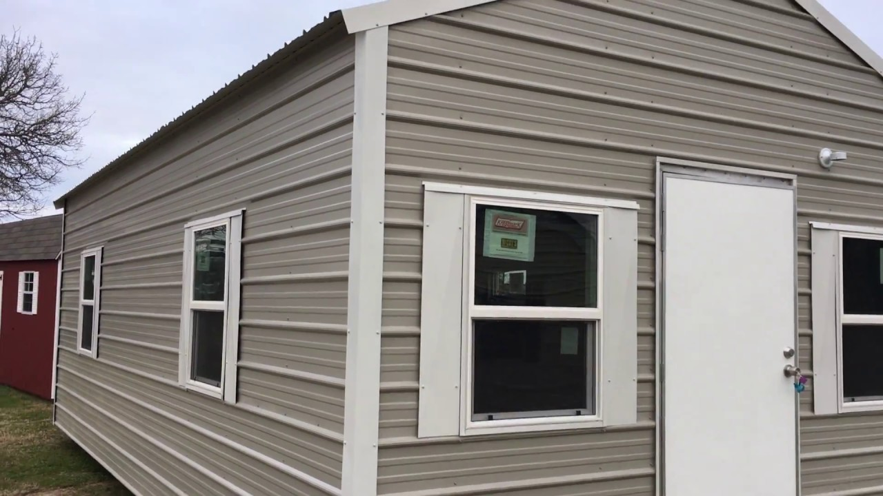 Cabin / Finished Portable Building - Bryan Texas - 14x28 Cottage