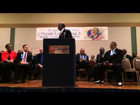 The Rev. Forrest E. Harris Sr. speaks at Martin Luther King Day celebration in KCK