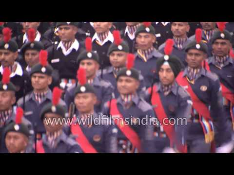 National Cadet Corp. NCC Marching Contingent at Republic Day 2018