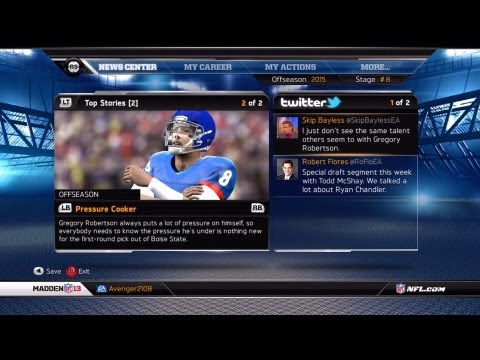 Madden NFL 13 - Connected Careers Ep. 1 - The 2016 NFL Draft