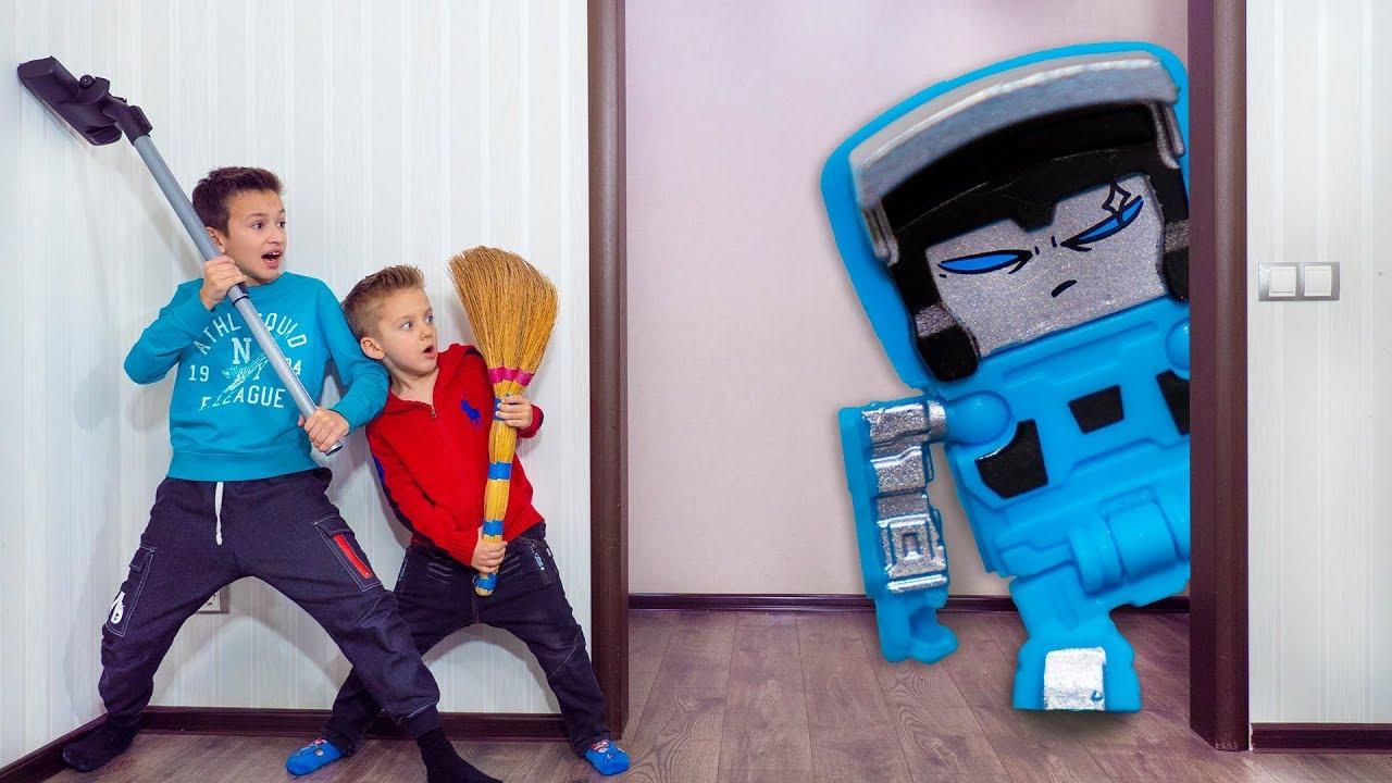 ПОЧЕМУ Папа Во Всем СЛУШАЕТСЯ Меня? Kids playing in Toy Transformers BotBots