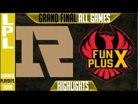 RNG Vs FPX Highlights ALL GAMES | LPL Summer 2019 Playoffs Final | Royal Never V Funplus Phoenix