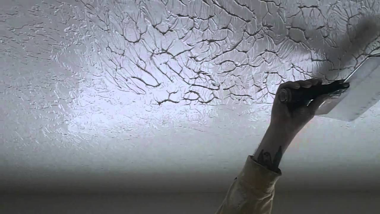 how to do a perfect knock down ceiling texture - youtube