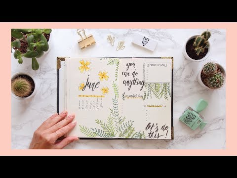 PLAN WITH ME ◆ JUIN 2018 Bullet Journal Setup ! 🌺
