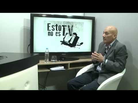 """Rubén Almara entrevistando a Lucio Villalba, en el programa """"ESTO NO ES TV"""""""