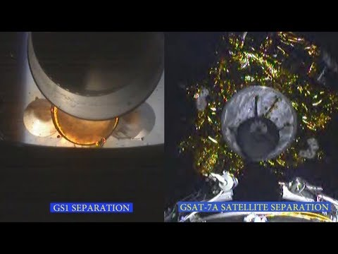 GSLV-F11/GSAT-7A Onboard Camera View