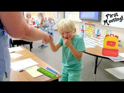 Ezrah Meets His First Grade Teacher, And It's Priceless!!!