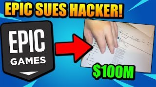 Fortnite SUES 14 YR OLD HACKER For $100,000,000