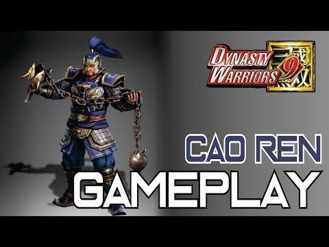 Dynasty Warriors 9 - Cao Ren Gameplay