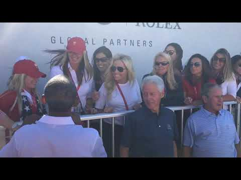 Presidents Clinton, Bush, Obama meets wives, girlfriends of US team