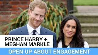 Prince Harry & Meghan Markle Open Up About Their Engagement!