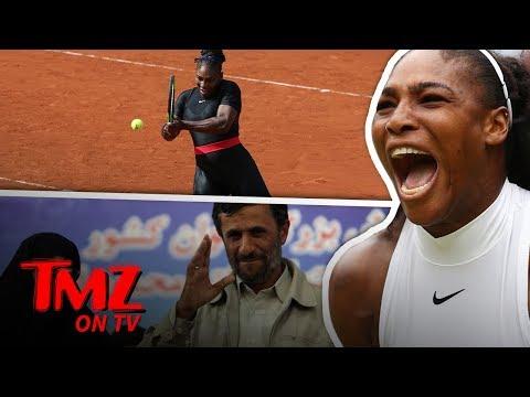 Former Pres Of Iran Defends Serena Williams' Catsuit!   TMZ TV