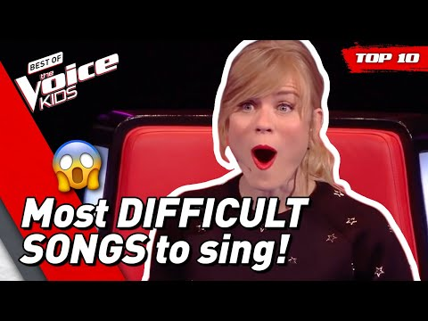 TOP 10 | Most DIFFICULT SONGS to sing in The Voice Kids
