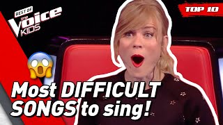 Download TOP 10 | Most DIFFICULT SONGS to sing in The Voice Kids Mp3 and Videos