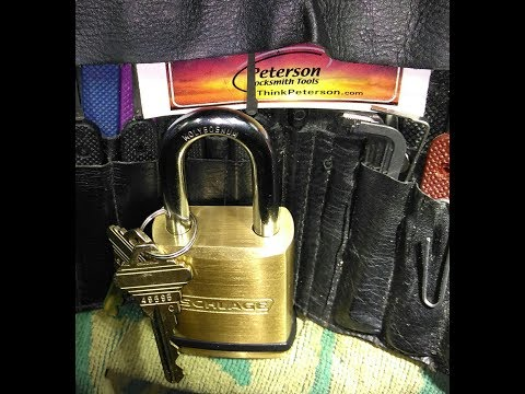 Взлом отмычками Schlage KS23 45mm Padlock  Lock Picking Schlage KS23 45mm Padlock