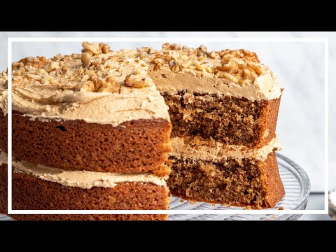Gluten-free Coffee and Walnut Cake Recipe �� (Low FODMAP, dairy-free option) | Baking with Becky