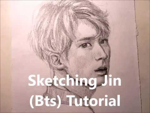 Sketching Jin Bts Tutorial Youtube