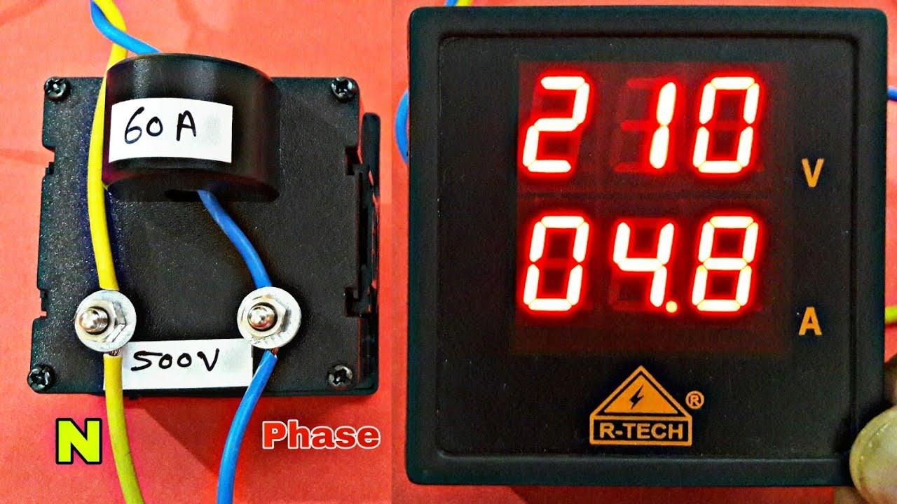 Ac 500v 60a Voltmeter Ammeter Youtube