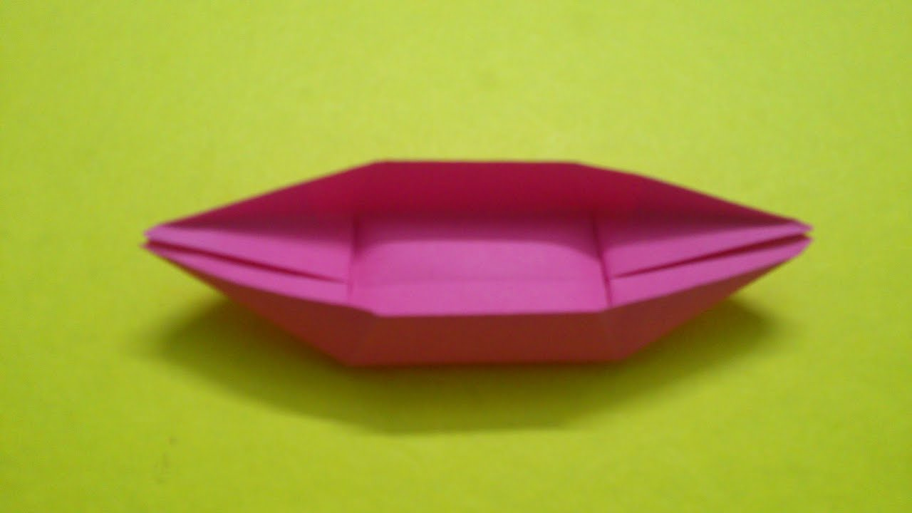 How to make a paper boat canoe youtube jeuxipadfo Image collections