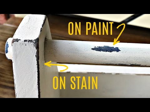 Easy DIY Layered Paint on Wood for Beginners with Vaseline