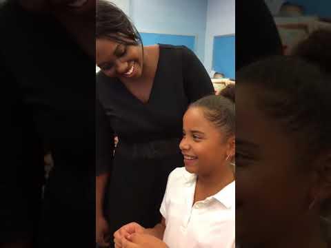 PS 197 4th Grader Sings For Met Opera Star, Angel Blue