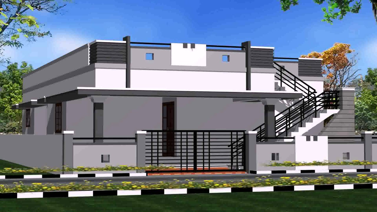 House Front Elevation Boundary Wall : House front boundary wall design youtube