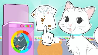BABY PETS 👗🧼 Kira learns how to do the laundry