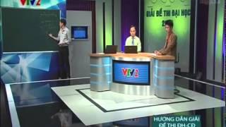 Hướng dẫn giải đề thi Đại học khối A môn Vật Lý 2014 trên VTV2
