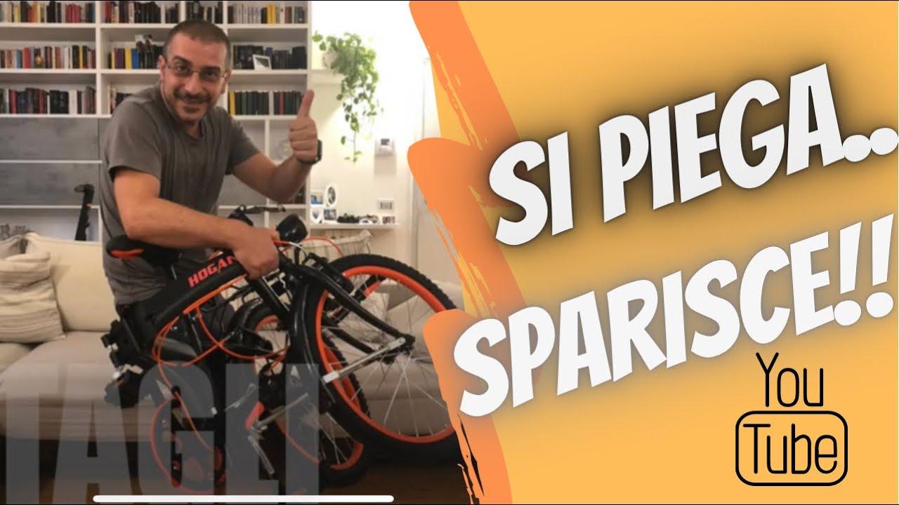 bicicletta Pieghevole HOGAN economica ideale pratica bella anche mezzi pubblici veloce e leggera