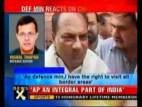 I have right to visit any part of India: Antony to China-NewsX