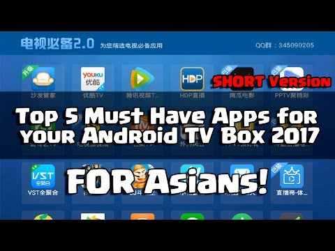 Top Must Have Apps For Android TV Box 2017 For Asian (Projector Sponsored By Innovative.com.sg)