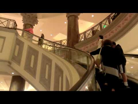 Mitsubishi Spiral Escalators @Caesars Palace Forum Shops, Las Vegas