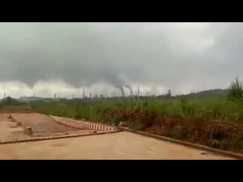 Shocking Pollution from steal factory in China, government disabled