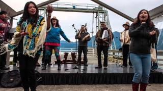 David Suzuki honoured by Howe Sound First Nations - Blue Dot tour event in Porteau Cove