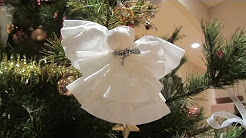 Coffee Filter Christmas Angel Ornament or Angel Topper For Tree