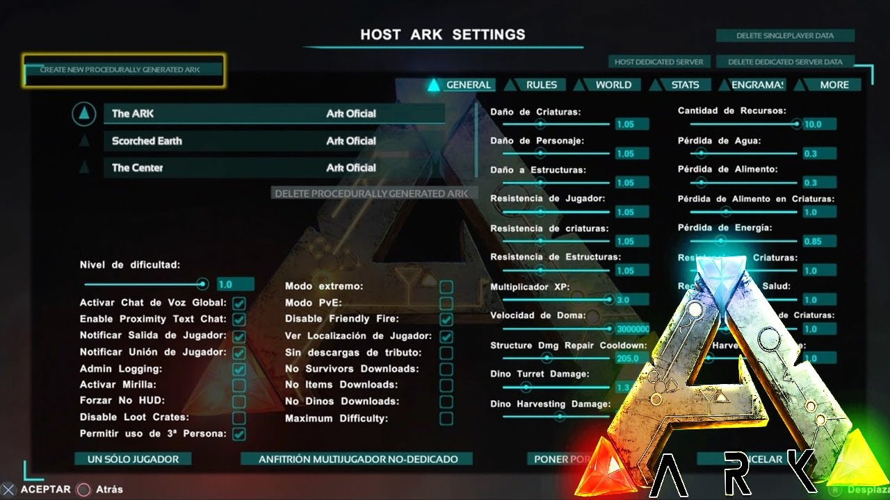how to make a server on ark fir ps4
