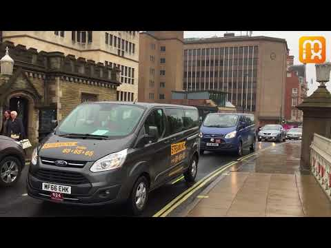 York taxi drivers stage Uber protest