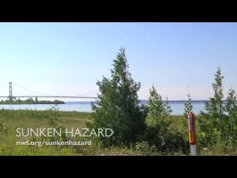 Sunken Hazard - NWF Dives underwater Mackinac Pipelines