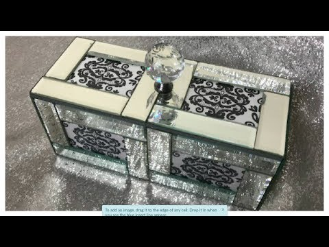DOLLAR TREE DIY MIRROR FRAME GLAM KEEPSAKE/JEWELRY BOX