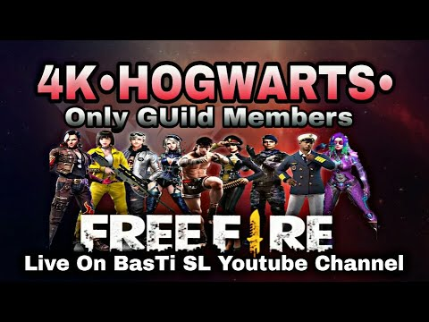 🔴Live 4K•HOGWARTS• Free Fire Coustom Match