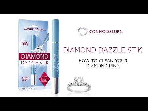 How to clean diamond wedding ring - Connoisseurs Diamond Dazzle Stik