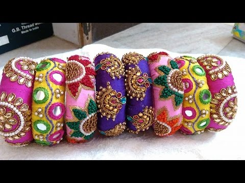 latest fabric bangles - YouTube