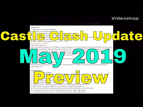 Castle Clash Update Preview May 2019 New Hero Skins Talent Guild Turf Watch Enchantment