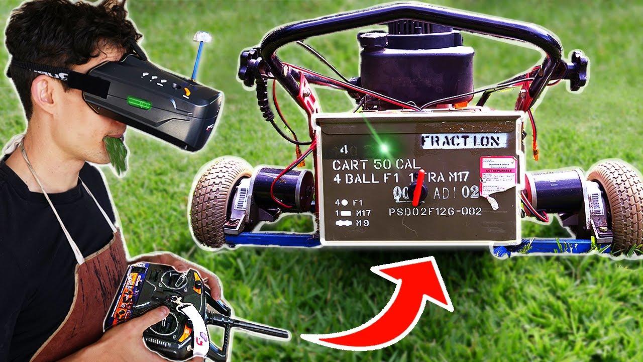 I Made A Terrifying Robot Lawn Mower