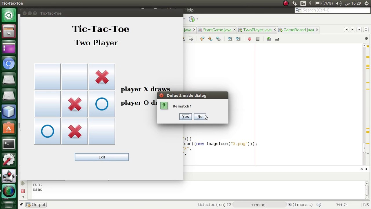 Tic Tac Toe | Java Program Implementation | Code Pumpkin