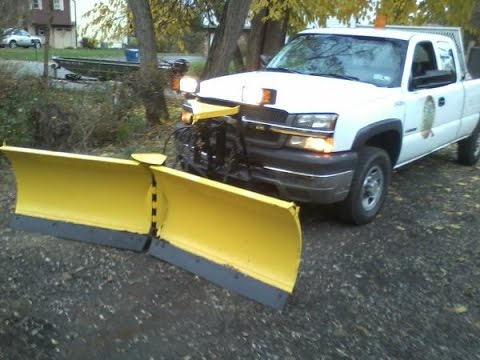 Replacing The Cutting Edge On The Snow Plow.