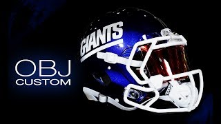 HELMET BUILD - OBJ Riddell Speed NY Giants Custom Color Rush Helmet