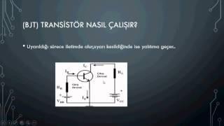 Güç elektroniği ders -3  '' Transistör Nedir? (bjt) ''