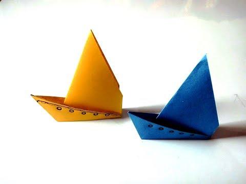 Origami Paper Sailboat/ How to Make a Paper Sailboat- DIY