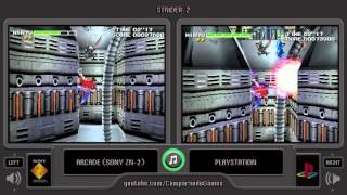 Strider 2 (Arcade vs Playstation) Side by Side Comparison
